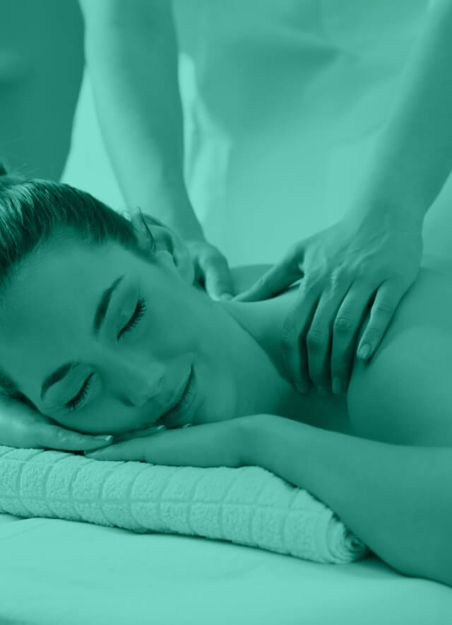 A woman receiving a relaxing massage